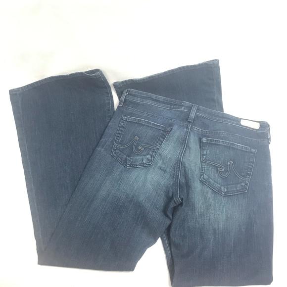Ag Adriano Goldschmied Denim - AG Jeans Belle Petite Flare Dark Wash 32R
